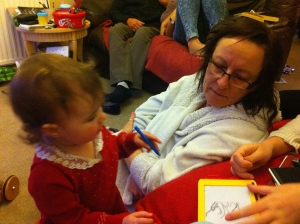 My mum with Lily