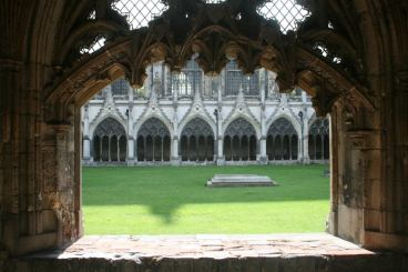 The Cathedral courtyard.