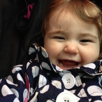 Lily as her usual, giggly self!