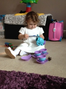 Lily with her favourite tea pot.